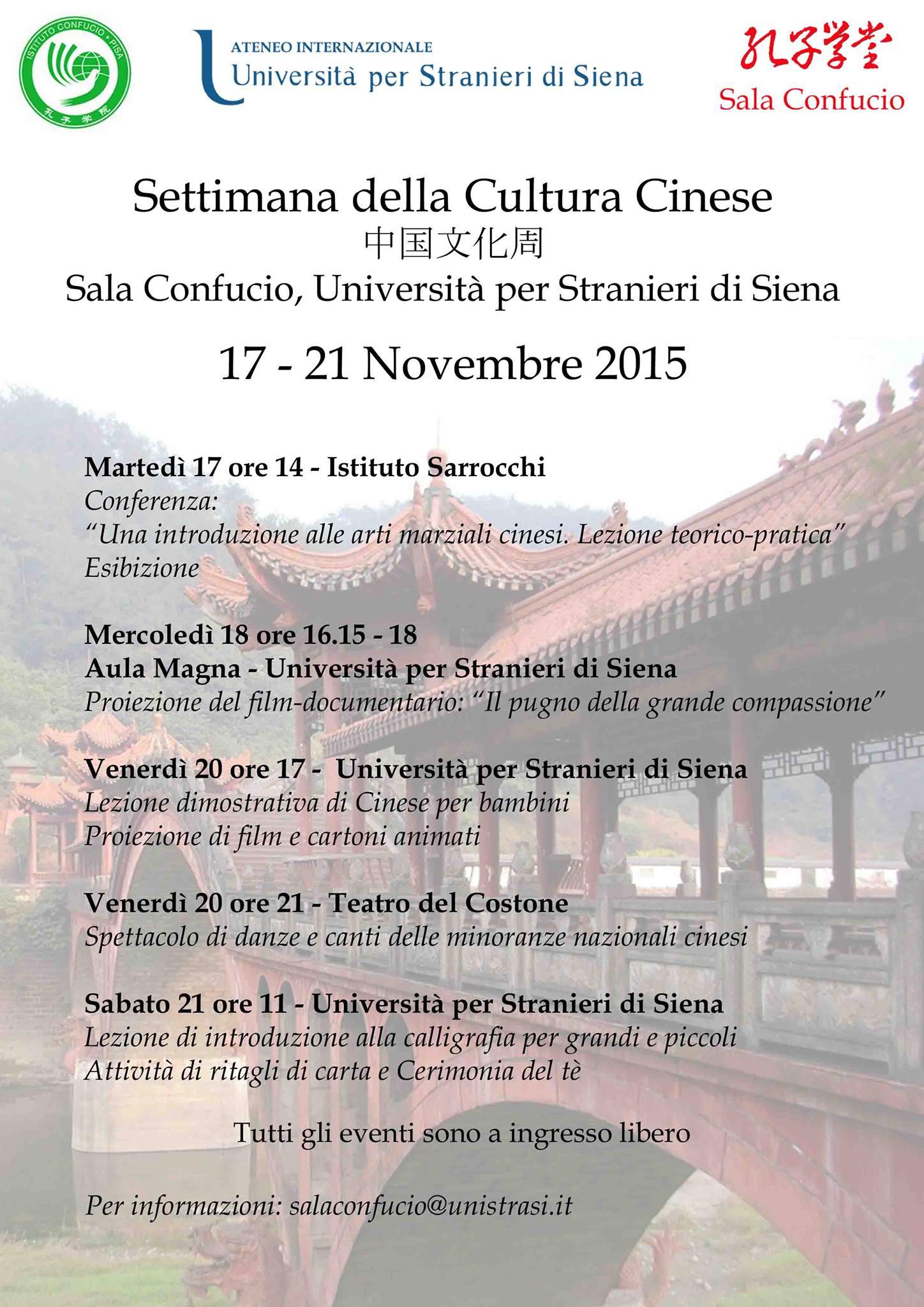 Settimana della cultura cinese a Siena